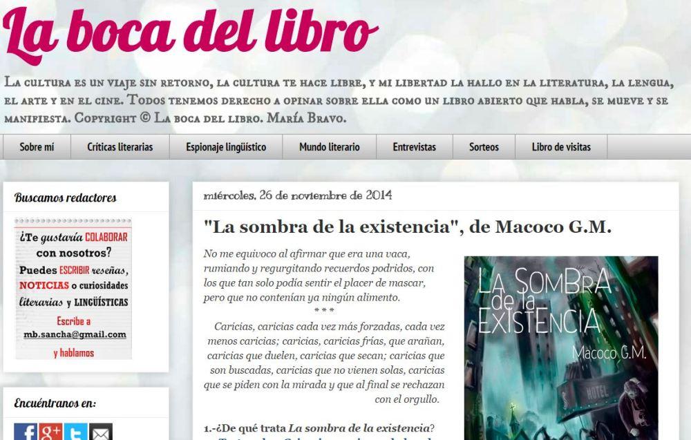 Entrevista en La Boca del Libro