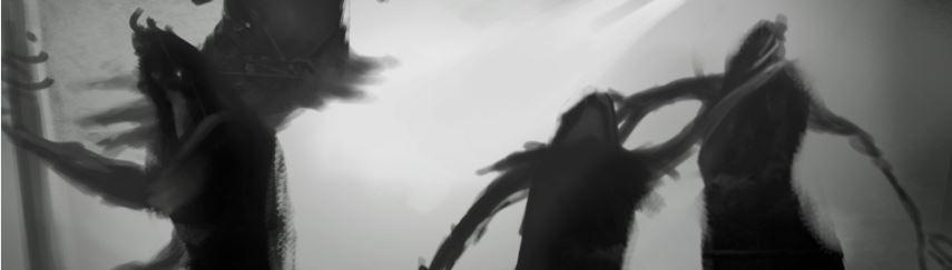 Sombras peleandose