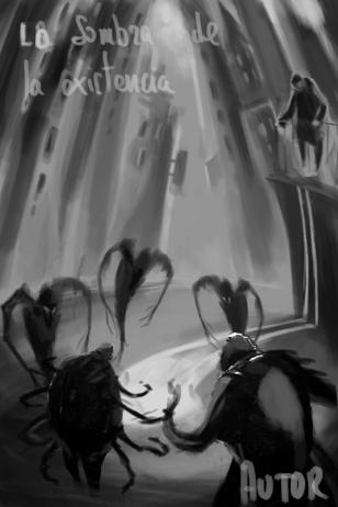 Boceto Portada La sombra de la existencia 1