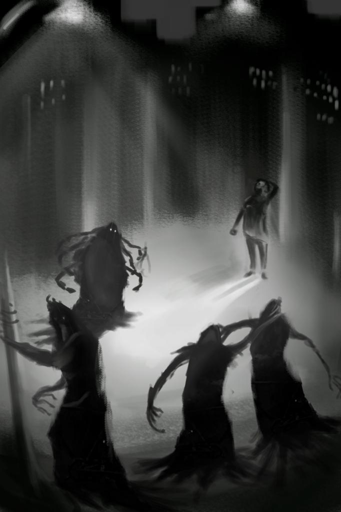 Boceto Portada La sombra de la existencia 2