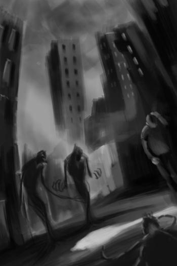 Boceto Portada La sombra de la existencia 3