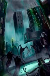 Boceto Portada La sombra de la existencia 7